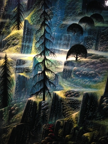 Detail of a Eyvind Earle painting